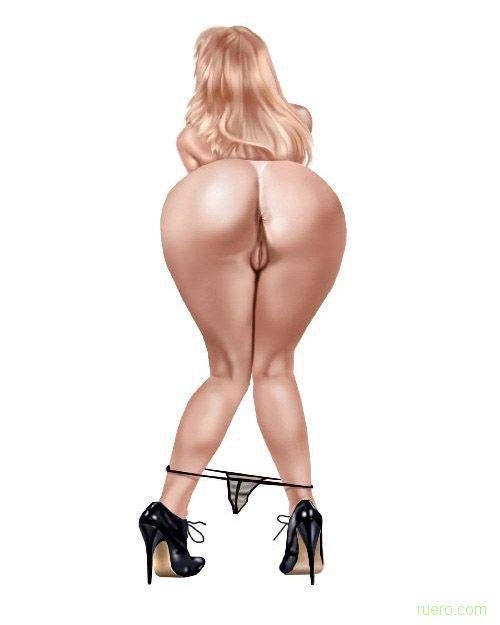 Рисунок большая женская задница, порно кончай меня