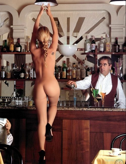 Topless waitress for bachelor party photo girls
