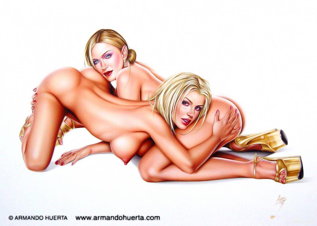 рисованная голая телка-лс2