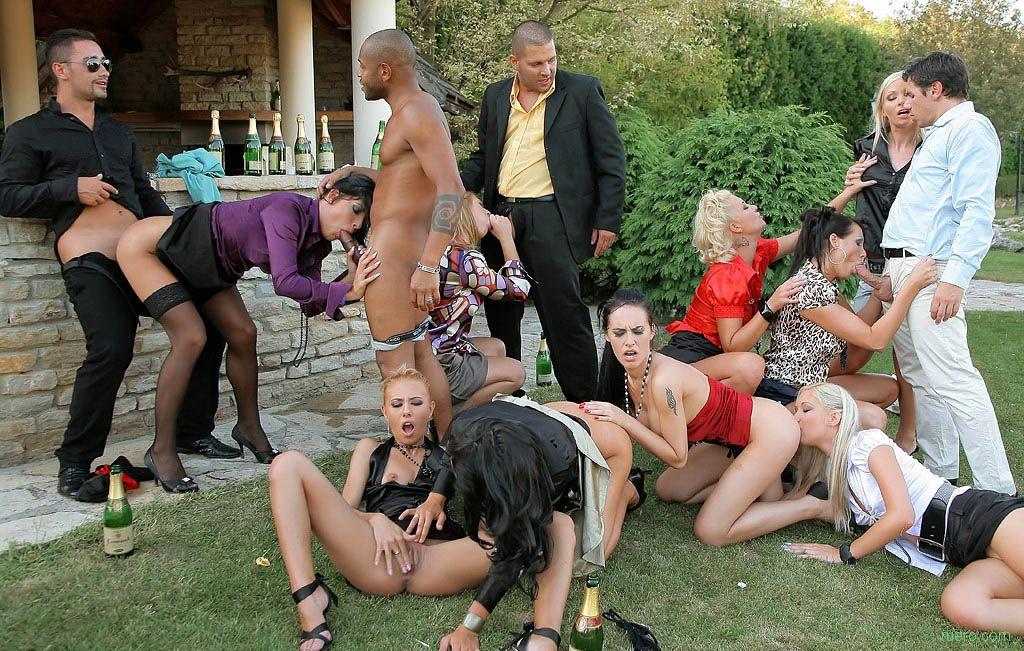 Garden sex party