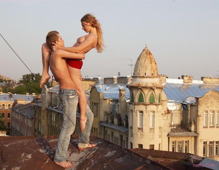 Порно на крыше высотки — photo 4