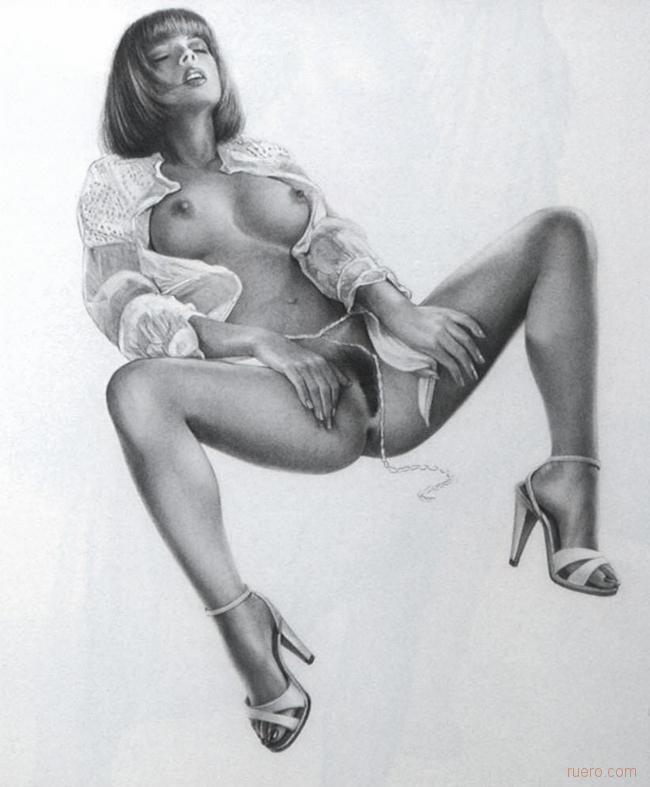 эротика красивые рисованная
