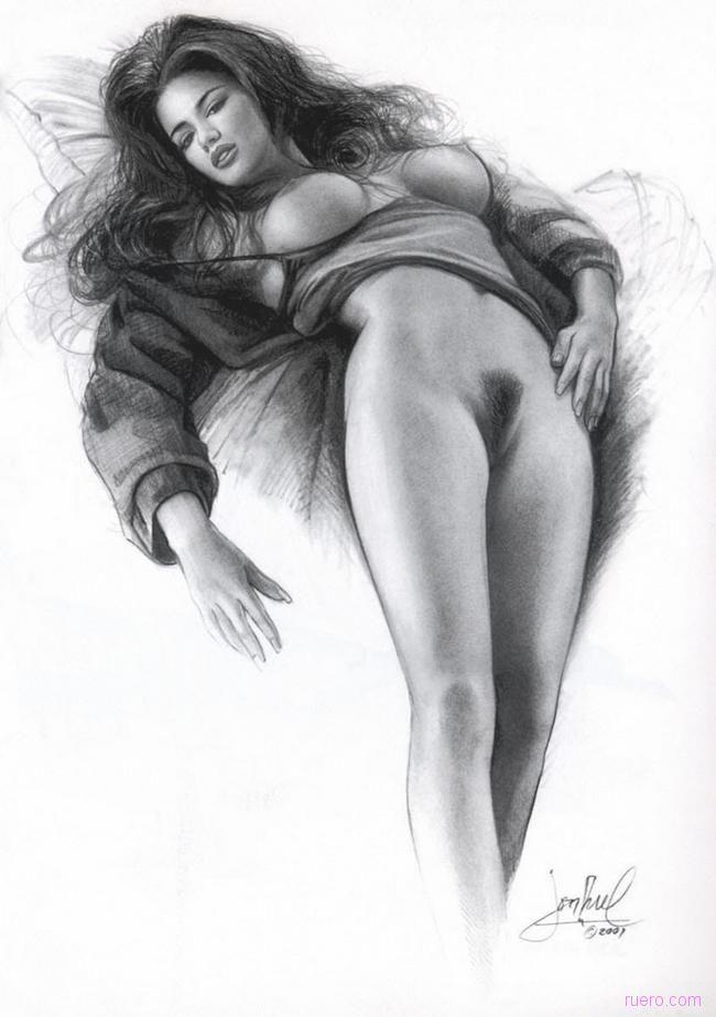 также существуют эротические рисунки в графике карандашом налитые