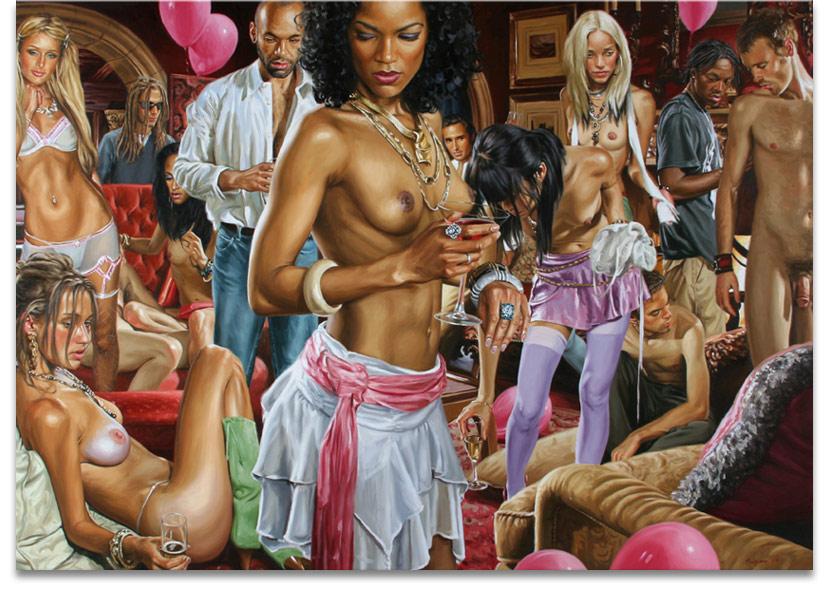 Вечеринка в картинках или к вопросу о рисованной эротике.