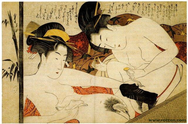 традиционная японская эротическая графика-тс1