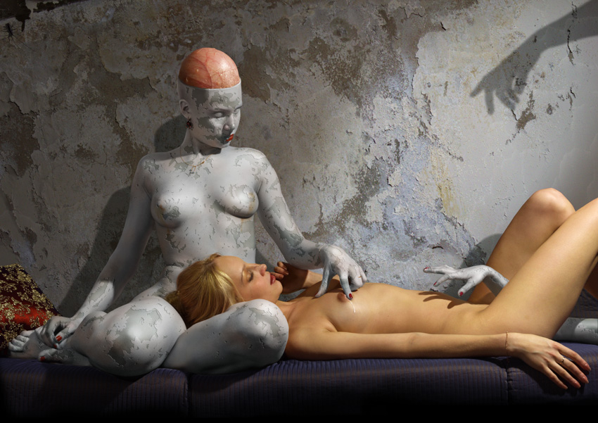 Sex ebon unusual naked art